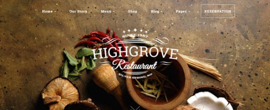 HighGrove Restaurant WorPress theme
